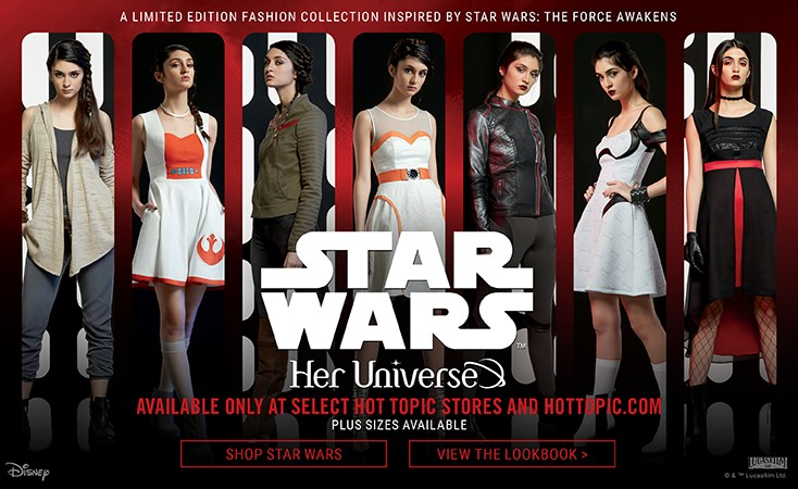 "Fashion Alert: Her Universe ""The Force Awakens"" Collection at Hot Topic"