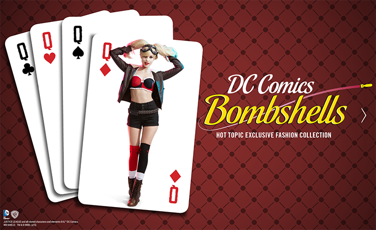 Fashion Alert: DC Bombshells at Hot Topic