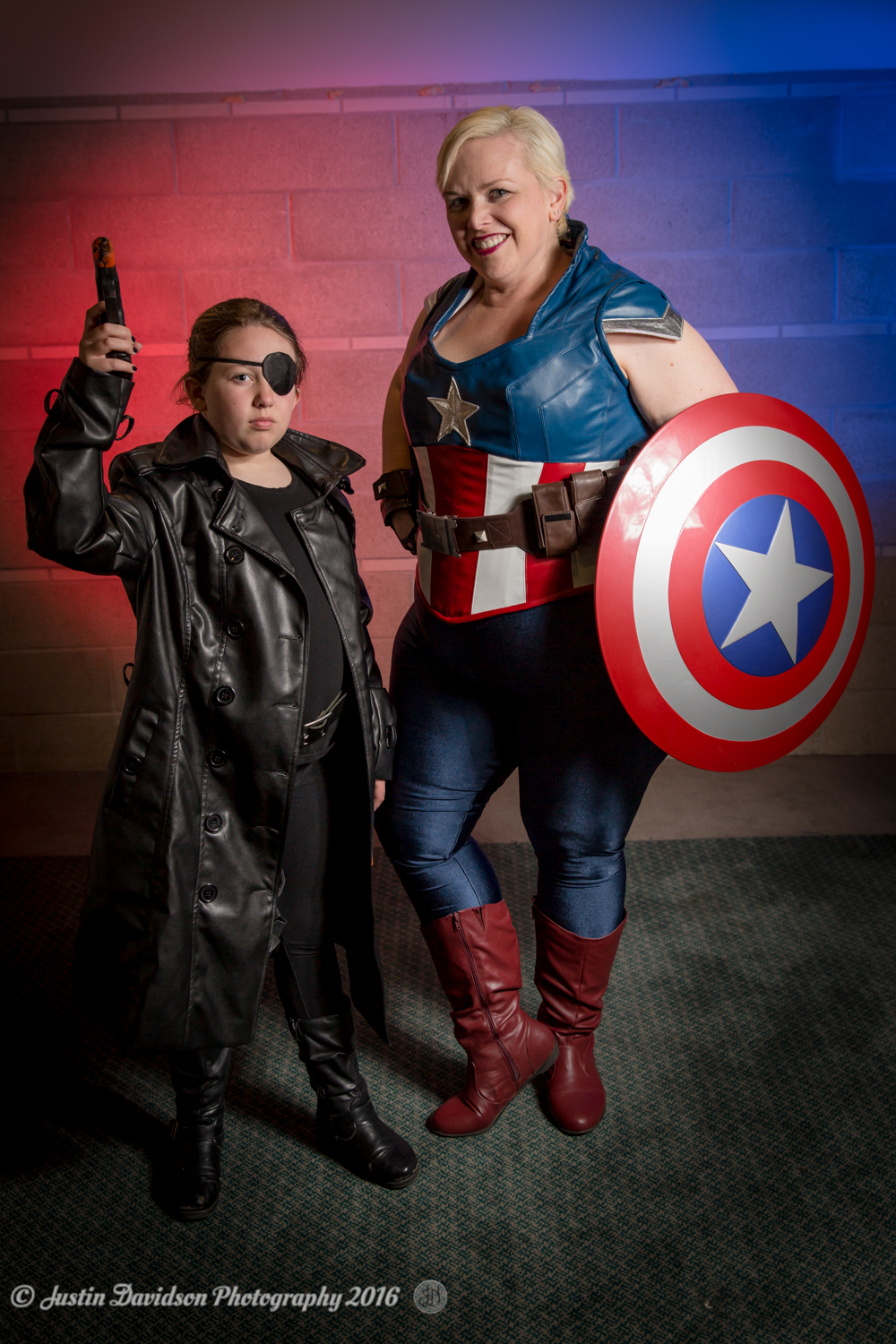 Cosplay: Nick Fury and Captain America