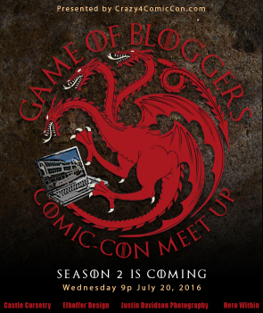 SDCC Countdown: Game of Bloggers