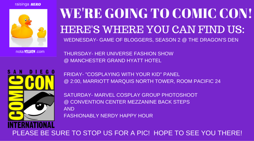 We're Going toSDCC!