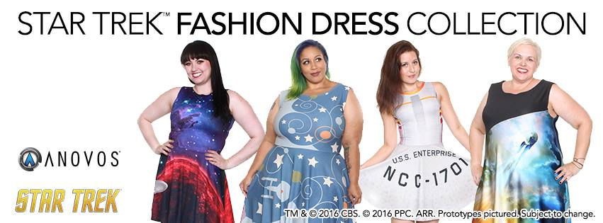 Star Trek Fashion Dress Collection by Gold Bubble Clothing forAnovos