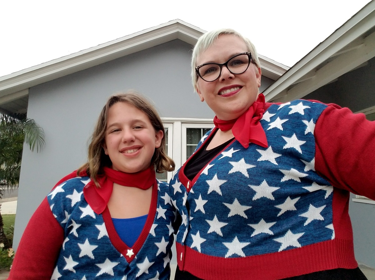 Outfit of the Day: Patriotic Cardigan from ElhofferDesign