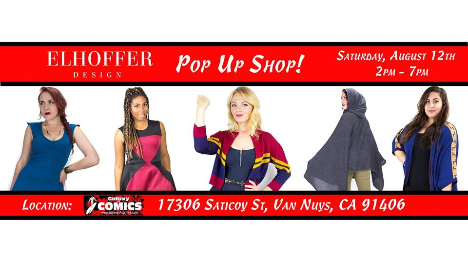 Elhoffer Design Pop-Up at The Galaxy of Comics ThisWeekend!