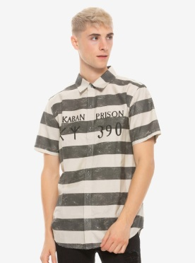 Harry Potter Azkaban Prisoner Woven Button-Up