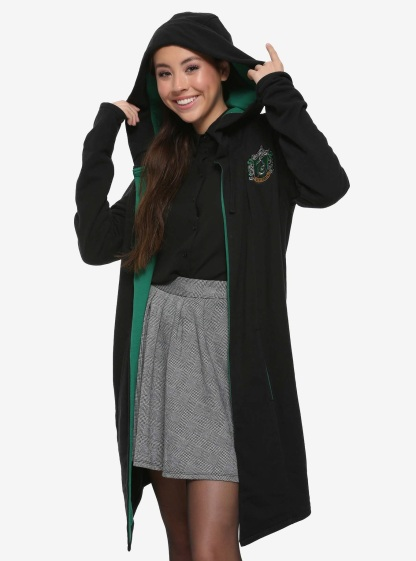 Harry Potter SLytherin Hoodie Cloak